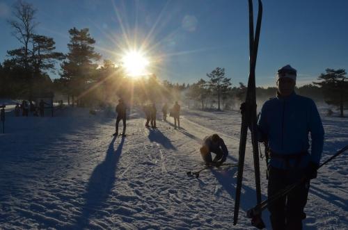 Skiløpere på Øynaheia